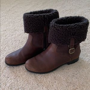 Ugg's Leather & Lambswool Boots